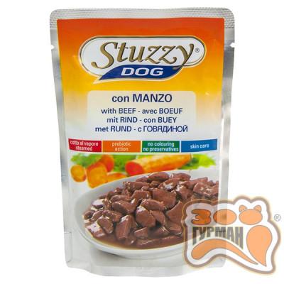 купити STUZZY Dog Beef ШТУЗИ ГОВЯДИНА в соусе корм для собак, пауч, 100г , 0.1 кг. в Одеси