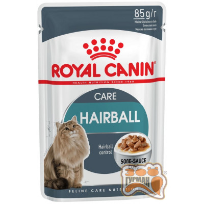 Royal Canin Hairball care в соусе старше 1 года