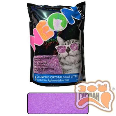 купити Neon Litter Clump НЕОН комкующийся кварцевый наполнитель, неоновый, 4л в Одеси