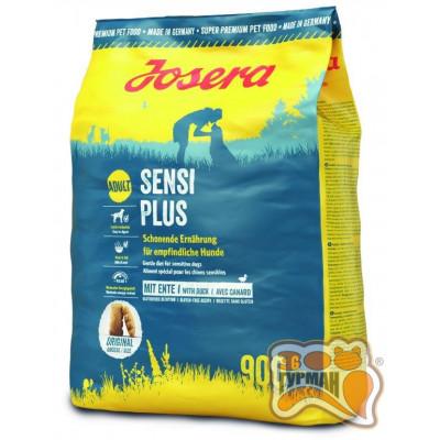 Josera SensiPlus Adult с уткой и рисом для взрослых собак, склонных к аллергиям и проблемам с пищеварением