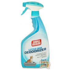 SIMPLE SOLUTION Дезодорирующее средство для чистки и устранения запахов в кошачьих туалетах, 945мл