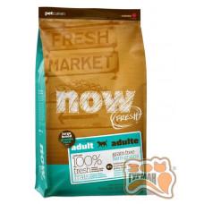 NOW! FRESH Adult Large Breed Recipe Grain Free для взрослых собак крупных пород с индейкой, уткой и лососем