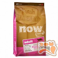 NOW! Fresh Grain Free Adult Cat Natural holistic беззерновой для взрослых кошек с индейкой, уткой и лосось