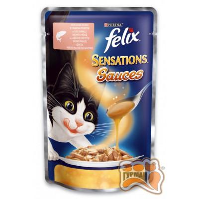 купити Felix (Фелікс) Sensations Sauces Лосось в соусі і зі смаком креветок в Одеси