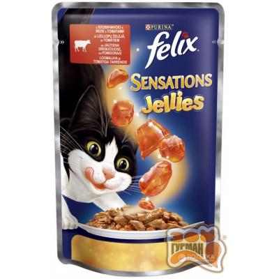 Felix Sensations Говядина и томаты в желе 100 гр