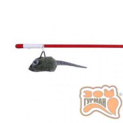 купити Іграшка для кішок Мишка на вудці Squieky 47 см Trixie в Одеси