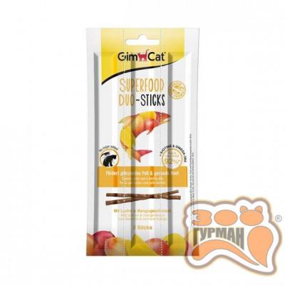 купити GimCat Superfood Duo-Sticks Дуо-палички з лососем і манго 3шт в Одеси
