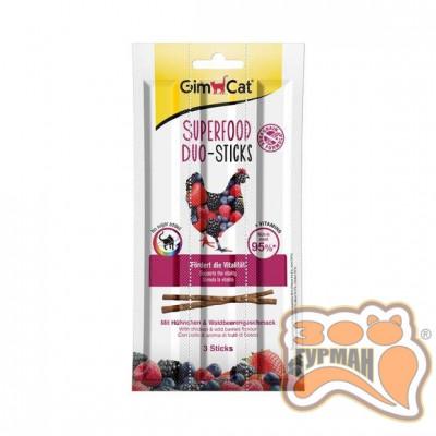 купити GimCat Superfood Duo-Sticks Дуо-палички з курчам і лісовими ягодами 3шт в Одеси