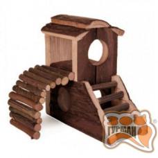 Деревянный замок для хомяка , 17,3*10,7*14,4см