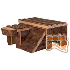 TRIXIE  деревянный домик для грызуна 'Luka' 14*14*7см
