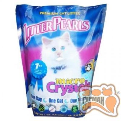 купити Litter Pearls Micro Crystals ЛИТТЕР ПЕРЛС МИКРО КРИСТАЛС кварцевый наполнитель для туалетов котов в Одеси