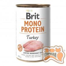 Brit Mono Protein Dog с индейкой 400 гр