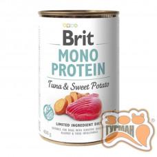 Brit Mono Protein Dog k с тунцом и бататом 400 гр