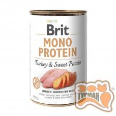 Brit Mono Protein Dog k с индейкой и бататом 400 гр