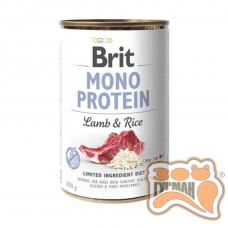 Brit Mono Protein Dog k с ягненком и темным рисом 400 гр