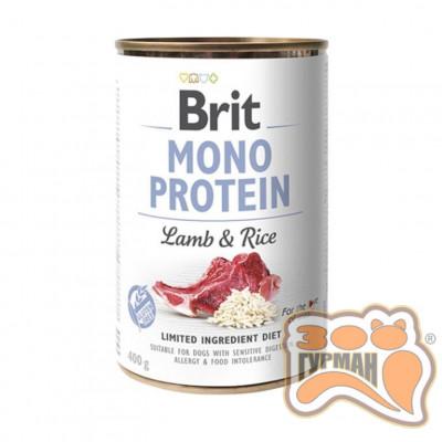 купити Brit Mono Protein Dog k с ягненком и темным рисом 400 гр в Одеси