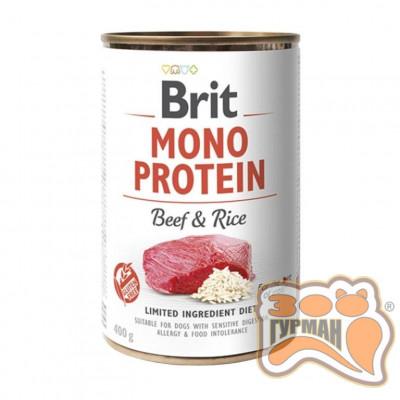 купити Brit Mono Protein Dog k с говядиной и темным рисом 400 гр в Одеси
