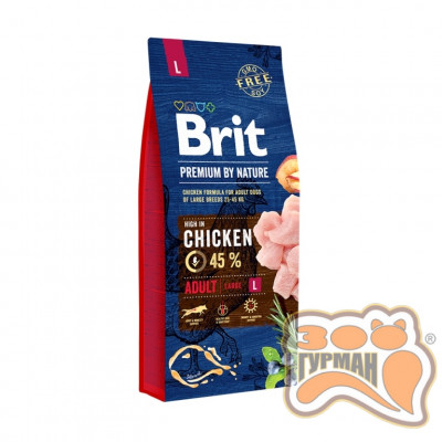 купити Brit Premium ADULT L - корм для взрослых собак крупных пород в Одеси