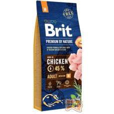 Brit Premium ADULT M - корм для взрослых собак средних пород 15 кг