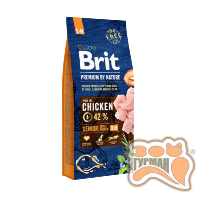 купити Brit Premium Senior S + M для стареющих собак мелких и средних пород в Одеси