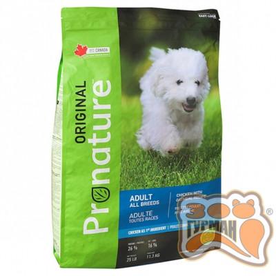 купити Pronature Original Dog Chicken Oatmeal ПРОНАТЮР ОРИДЖИНАЛ КУРИЦА С ОВСЯНОЙ МУКОЙ корм для собак в Одеси