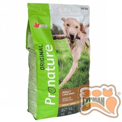 купити Pronature Original Dog Chicken Oatmeal ПРОНАТЮР ОРИДЖИНАЛ ДОГ КУРИЦА ОВСЯНАЯ МУКА корм для собак крупных пород 15кг в Одеси