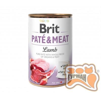 Brit Patе & Meat Lamb с ягненком, 400г