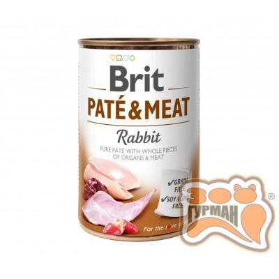 Brit Patе & Meat Rabbit с кроликом, 400г