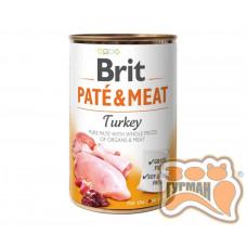 Brit PATE & MEAT Turkey с индейкой, 400г