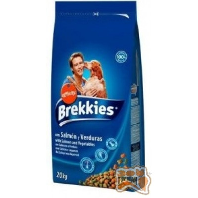 купити Brekkies (Бреккіз) Adult Dog Salmon & Vegetables з лососем для дорослих собак всіх порід 20 кг в Одеси