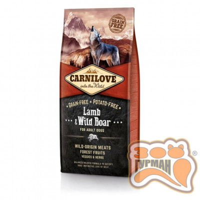 купити Carnilove Adult Lamb & WildBoar с ягненком и диким кабаном в Одеси