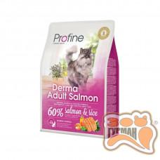 Profine Cat Derma лосось и рис для длинношерстых и полудлинношерстых котов и кошек