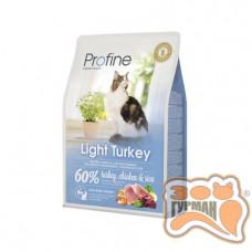 Profine Cat Light натуральное мясо индейки и рис для котов и кошек с избыточным весом