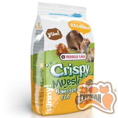 купити Versele-Laga Crispy Muesli Hamster ВЕРСЕЛЕ-ЛАГА КРИСПИ МЮСЛИ ХОМЯК зерновая смесь корм для хомяков, крыс, мышей, песчанок в Одеси