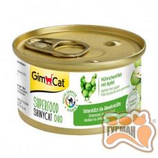 Gim Shiny Cat SUPERFOOD с курицей и яблоками, 70 гр
