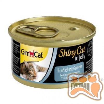 купити Gim Shiny Cat тунец с креветками, 70 гр в Одеси