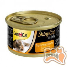 Gim Shiny Cat тунец с курицей, 70 гр
