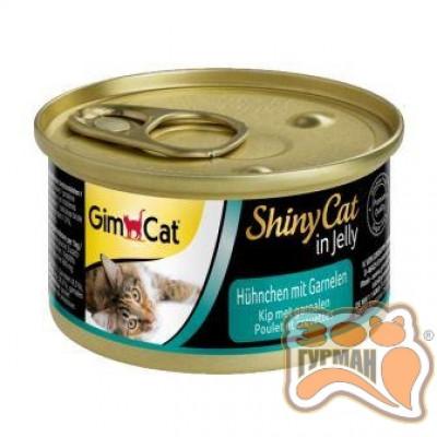 купити Gim Shiny Cat курица с креветками, 70 гр в Одеси