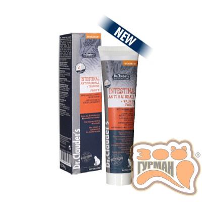 купити Dr.ClaudersAnti Hairball Paste mit Taurin (для вывода шерсти у кошек, таурин), 100гр в Одеси