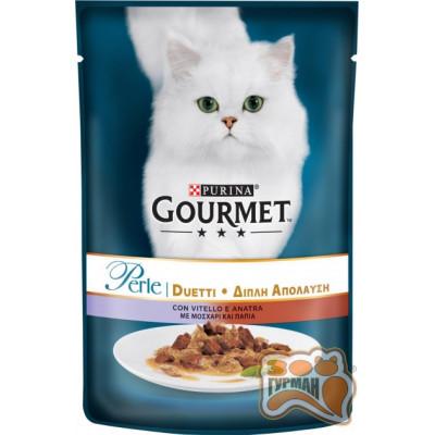 купити Gourmet (Гурме) Perle Duo с телятиной и уткой 85 г в Одеси