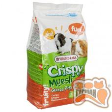 Versele-Laga Crispy Muesli Guinea Pigs, зерновая смесь корм для морских свинок, с витамином C