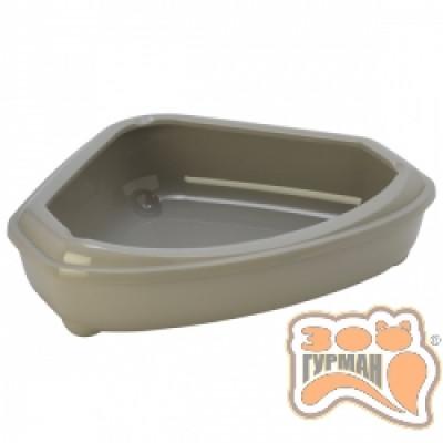 купити Moderna МОДЕРНА КОЗИ туалет для кішок, кутовий з бортиком, 55х45х14 см в Одеси