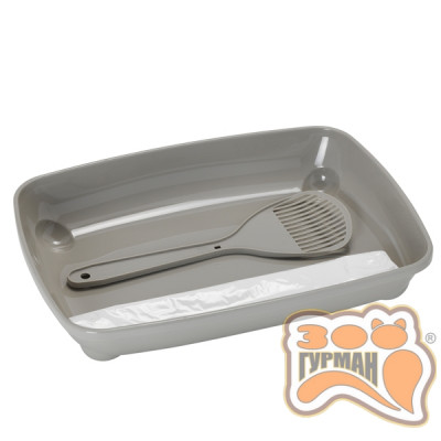 купити Moderna МОДЕРНА АРИСТ-О-ТРЭЙ туалет для котят с лопаткой и пакетами 27,9Х37Х6,2см в Одеси
