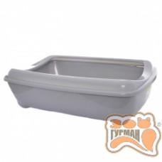 Moderna АРИСТ-О-ТРЭЙ ДЖУМБО туалет с бортиком для котов, 57Х43Х16,3 см