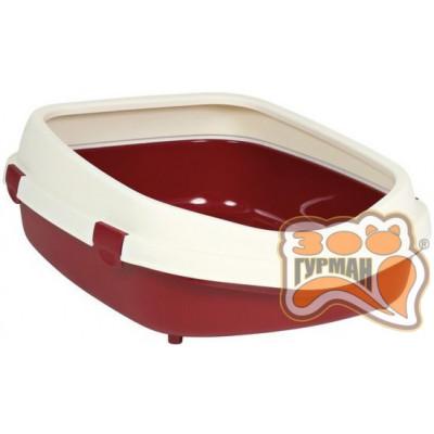 купити Trixie (Тріксі) Primo XL туалет з рамкою 56х25х71 см, бордовий/кремовий в Одеси