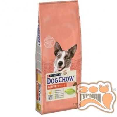 купити Dog Chow ACTIVE корм для активных собак с курицей в Одеси
