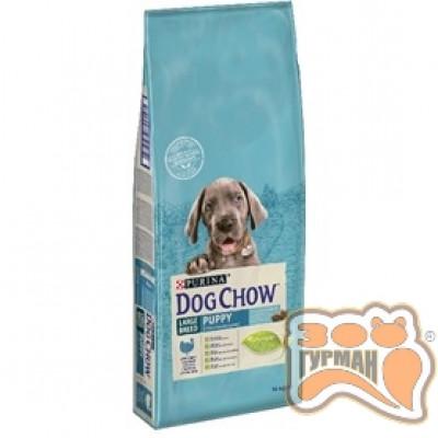 купити Dog Chow Puppy Large Breed корм для щенков крупных пород с индейкой 14кг в Одеси