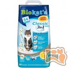 Наполнитель Biokat's Classic fresh 3in1 Cotton Blossom 10л
