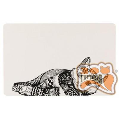 купити Trixie (Трикси) 24788 Коврик Zentangle под миски для котов 44 х 28 см в Одеси