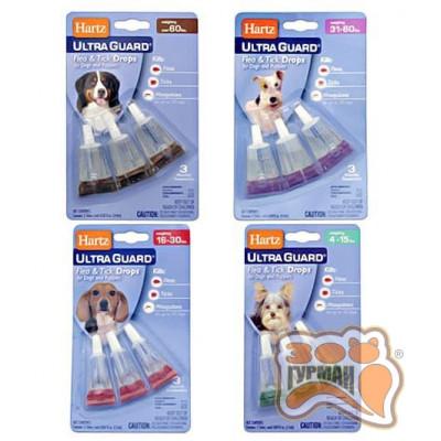 купити Hartz UltraGuard Flea&Tick 3in1 капли для собак от блох, клещей и комаров, 1пипетка в Одеси